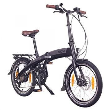 "NCM Lyon 36V 20"" Bicicleta eléctrica Plegable E-Bike, 250W Motor Bafang Posterior"
