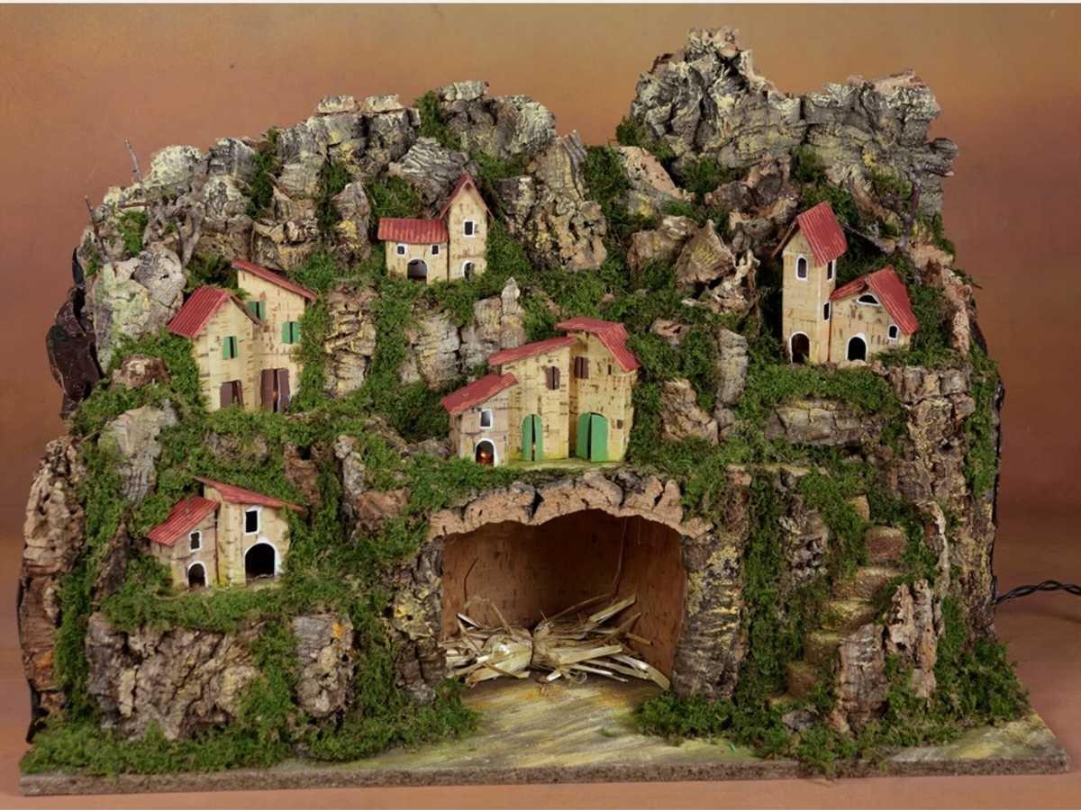 ROSSI ROSA Presepe con Luci, 60 x 34 x 44 cm 87170