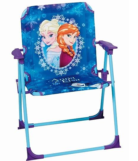 Disney Silla de jardín Plegable Frozen - Uso en Interiores y Exteriores