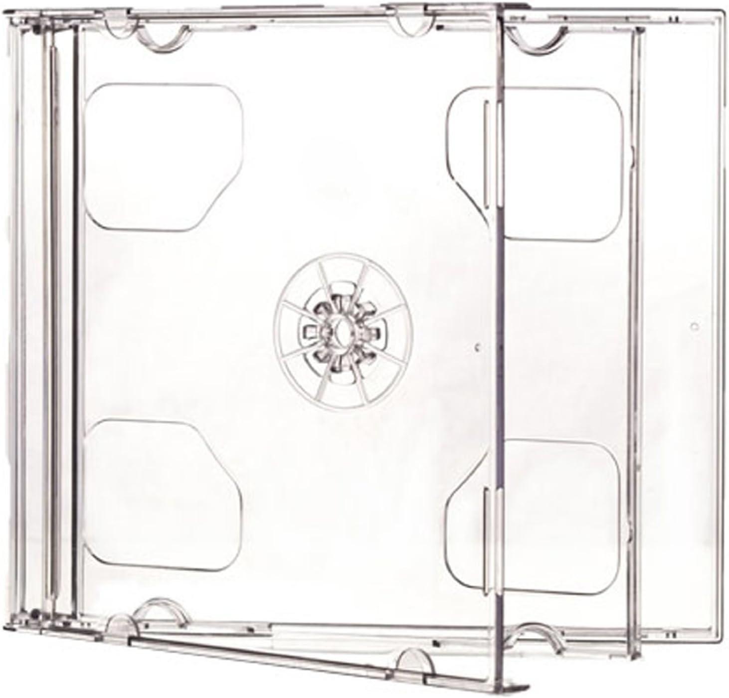 Doble CD Jewel Cases 10.4 mm para 2 Disco con Bandeja Clara (Pack ...
