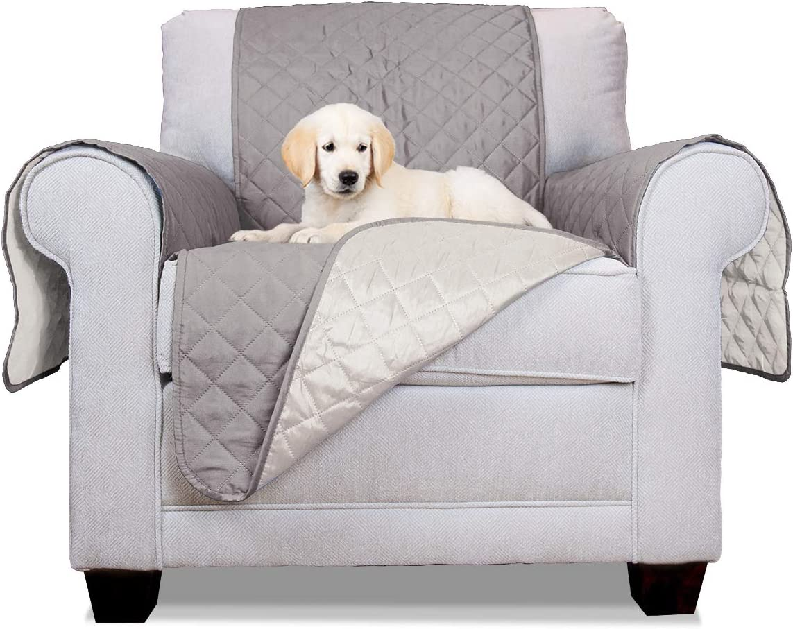 Furhaven Pet - Two-Tone Reversible Water-Resistant Living Room Furniture Sofa & Couch Furniture Cover Protector for Dogs & Cats - Multiple Styles, Sizes, & Colors