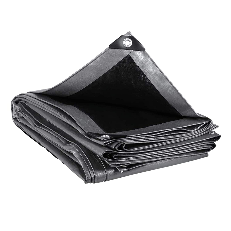 MVPower Lona Impermeable Exterior con Ojales, Protección Solar y Resistente a la Rotura para Muebles de Jardín, Camping, Madera, Piscina, Vehículos y barcos, 280g / m² gris