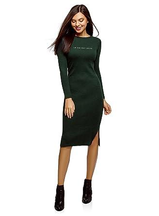 4fe654a7cab4 oodji Ultra Femme Robe Mi-Longue Côtelée  Amazon.fr  Vêtements et ...