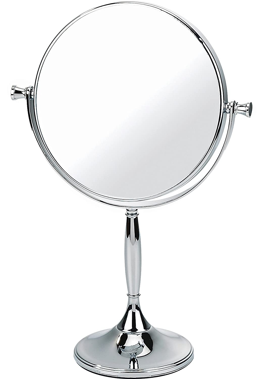 Chrome Pedestal Mirror True Image x7 Magnfied 32cmx17.5cm Danielle Exclusive Creations 0637