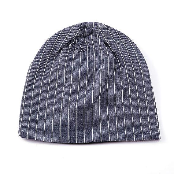 Kppong Heißer Männer Frauen Streifen Warme Mütze Häkeln Winter
