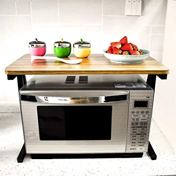 Akway Kitchen Rack 23 6inch Microwave Oven Stand Kitchen Cabinet And