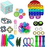 Fidget Pack, 28Pcs Fidget Toys Cheap Fidget Toys Set Sensory Fidget Toys for Kids Adults, Simple Dimple Fidget Toys…