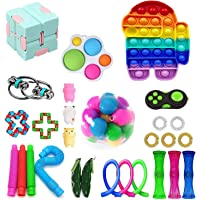 Fidget Pack, 28Pcs Fidget Toys Cheap Fidget Toys Set Sensory Fidget Toys for Kids Adults, Simple Dimple Fidget Toys…