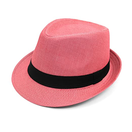 4ecfa0eaaf2966 Image Unavailable. Image not available for. Color: Unisex Spring/Summer  Herringbone Fashion Fedora Hat
