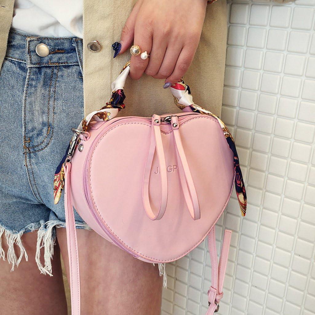 Shaoge Small Shoulder Bag for Women Lady Heart Shaped Tote Purse Handbag Messenger Crossbody Bags