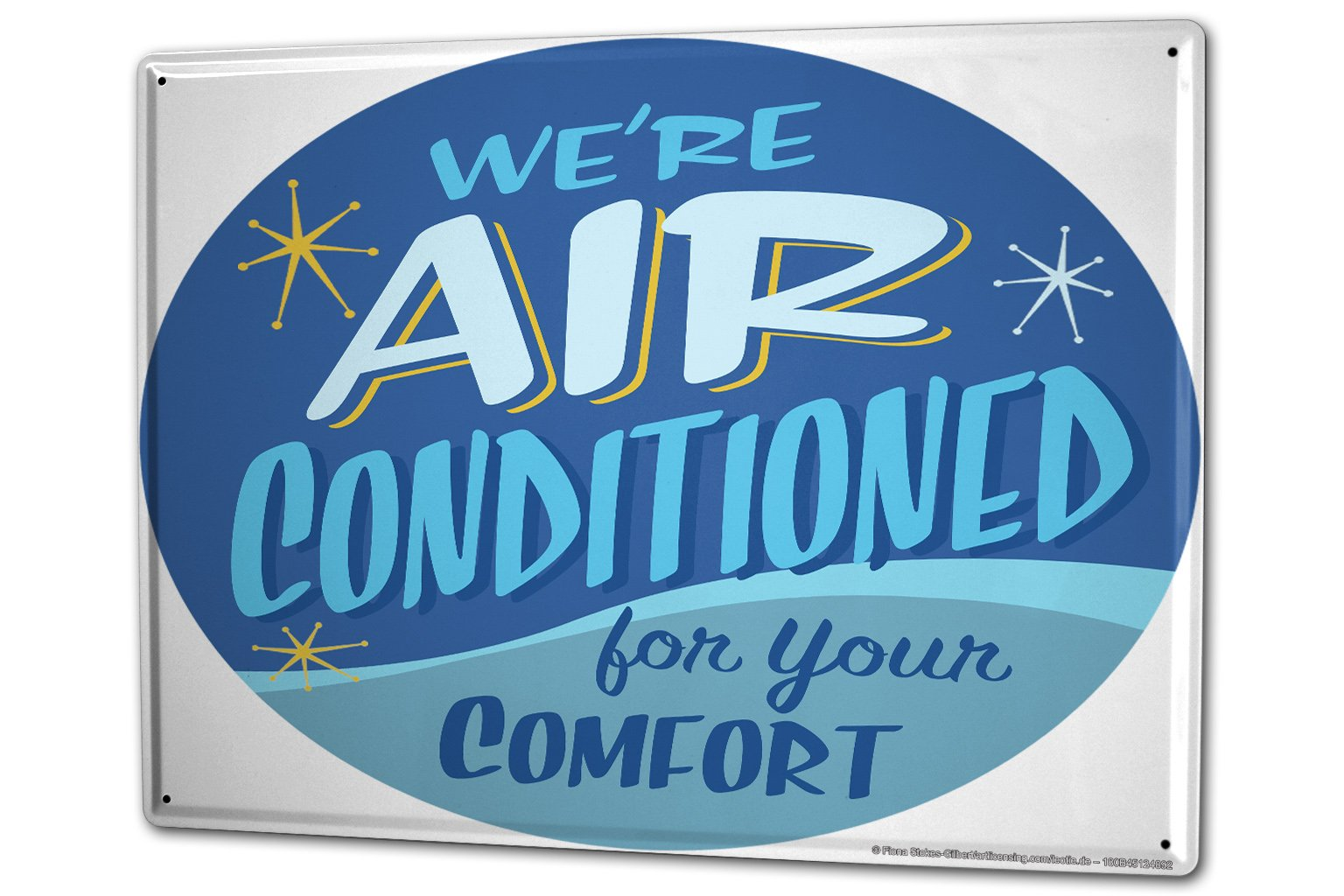Tin Sign XXL Sayings Air conditioning for you