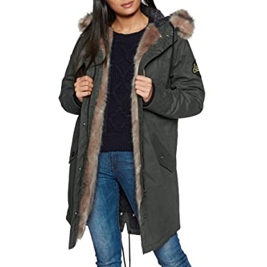 best sale good reputation first Superdry Frankie Faux Fur Lined Parka Jacket: Amazon.co.uk ...