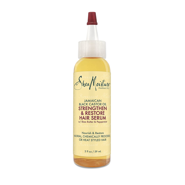 SheaMoisture Jamaican Black Castor Oil Strengthen, Grow & Restore Hair Serum, 2 Ounce