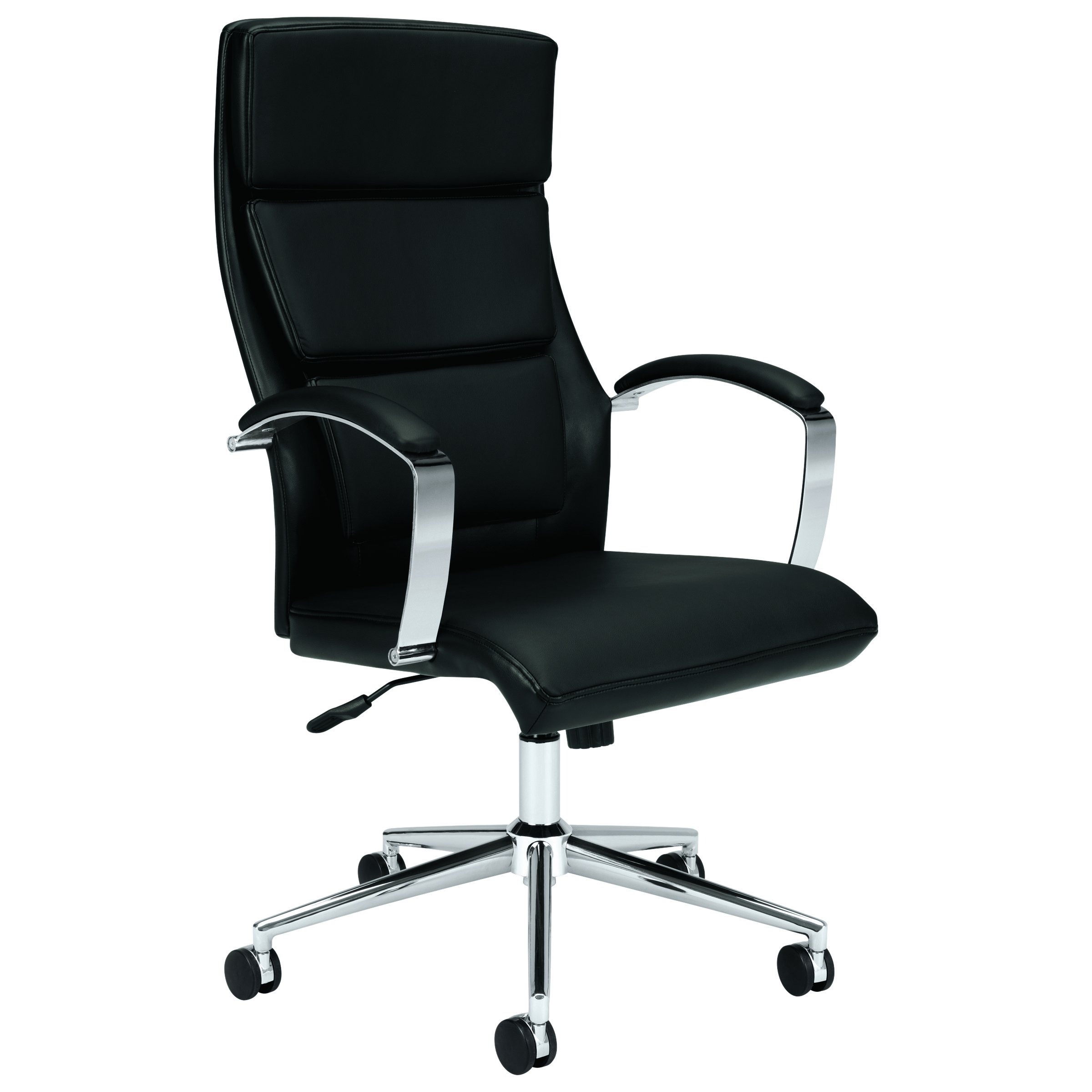 HON Executive Task Chair - High Back Leather Computer Chair Office Desk, Black (VL105)