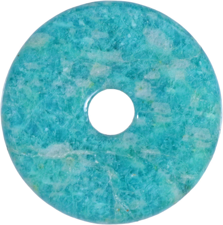 Fuente de Vida Plus amazonita Piedras Preciosas Donut Diámetro 30 mm Colgante
