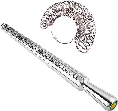 Finger Sizing Measure Stick Sizing Measure Metal Ring Sizer Mandrel