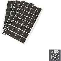 EMUCA Fieltros Adhesivos para Muebles, Color marrón, Cuadrados