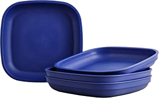"""product image for Re-Play Recycled Products Deep Walled Plates, Set of 4 (7.375"""" Deep Walled Plates, Navy Blue)"""