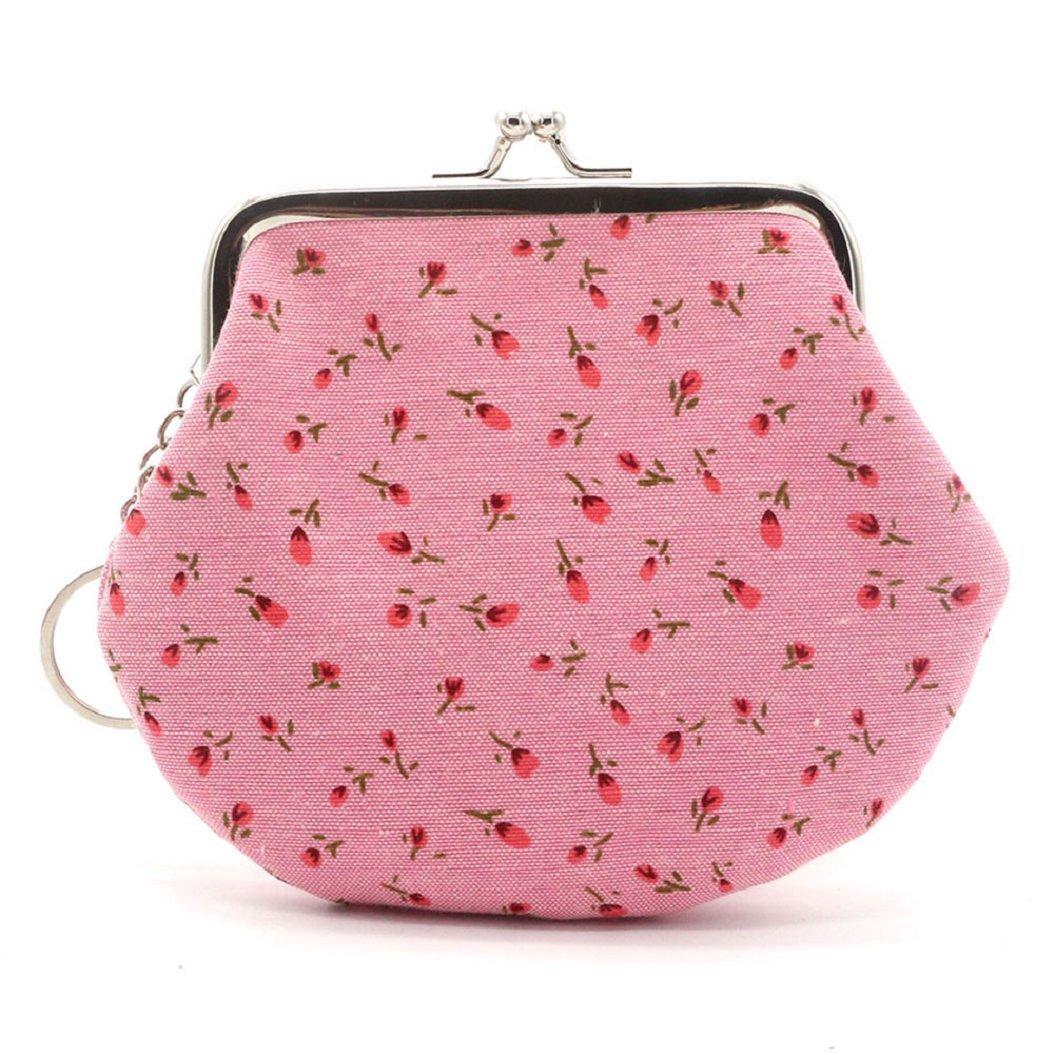 Shuohu Women's Small Wallet Holder Coin Purse Clutch Cute Lovely Floral Handbag Bag