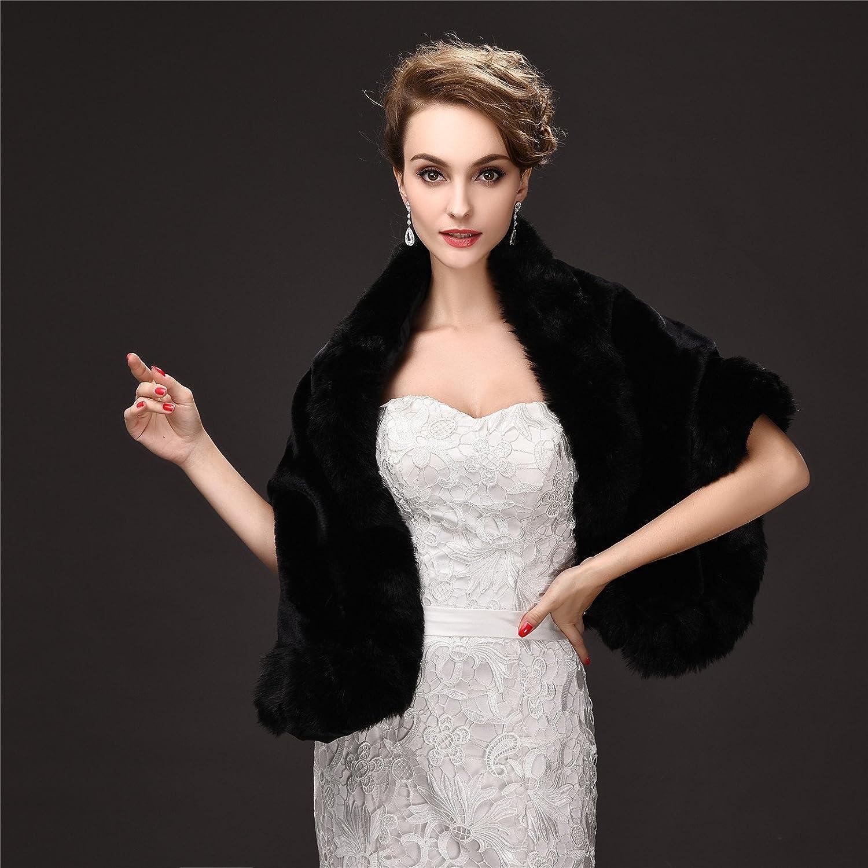 754f684fd EnjoyBridal - Chaqueta bolero de piel sintética para mujer