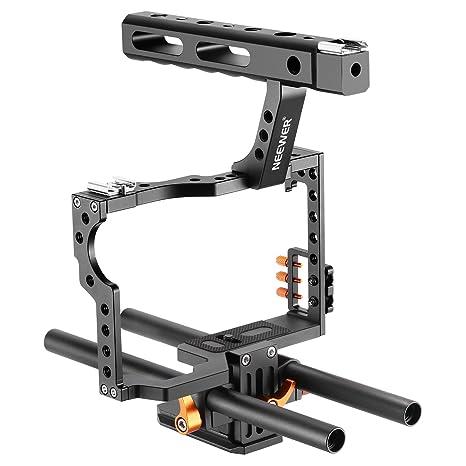 Neewer - Kit de Jaula de vídeo para cámara fotográfica con asa ...