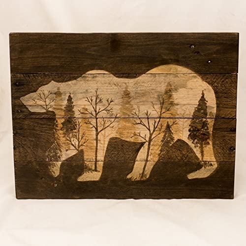 Log Cabin Art Rustic Wall Art Wood Wall Art New For Home Rustic Home Decor  Woodland