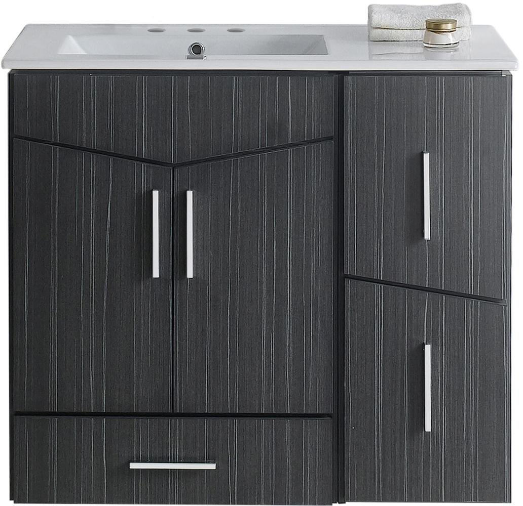 "Jade Bath JB-18143 36"" W x 17"" D Plywood-Melamine Vanity Set, Dawn Grey 70%OFF"