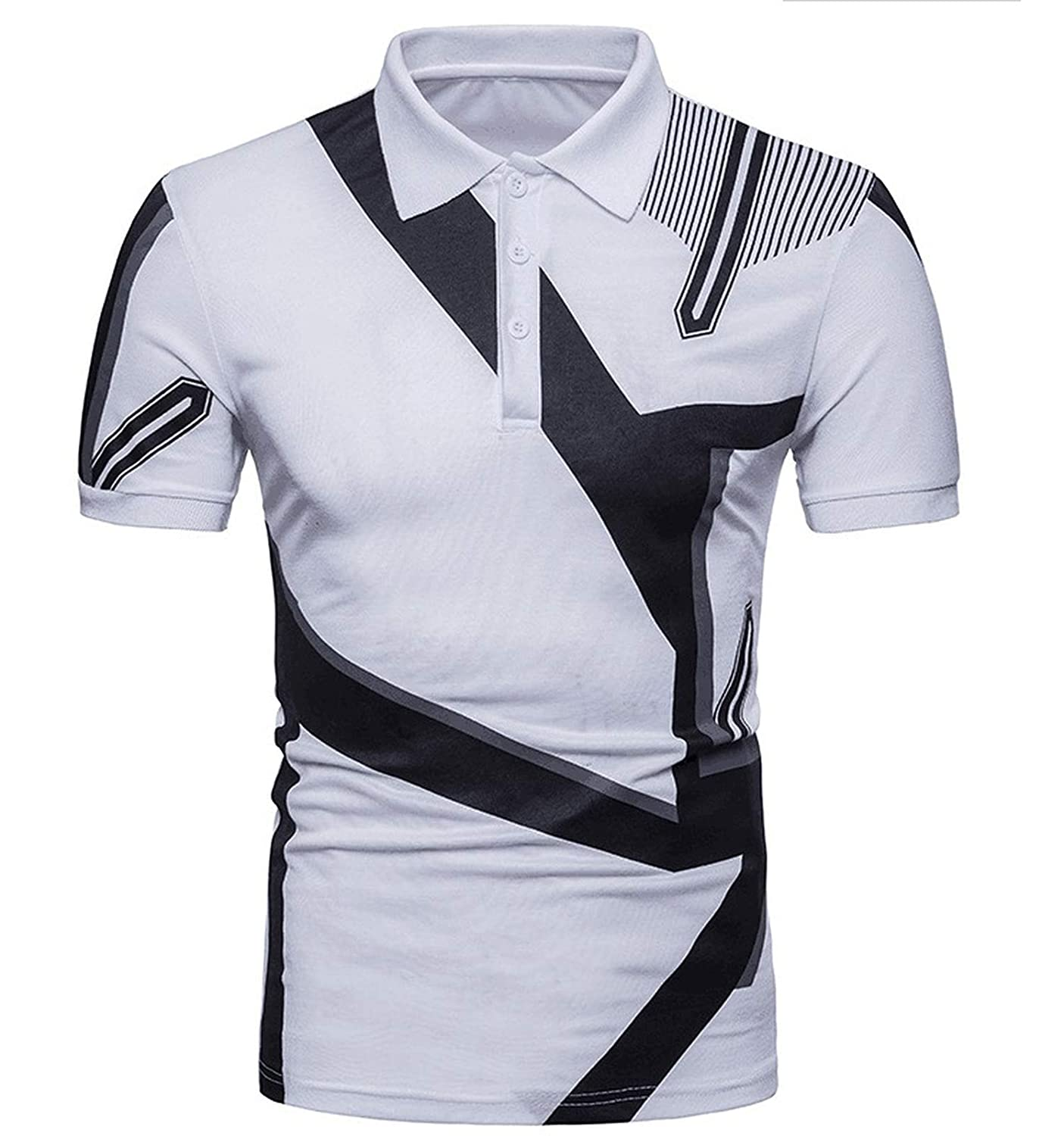 EspTmall Summer New Men Clothing 2019 Man Polo Casual Printed Polo Shirts for Men College Street Wear