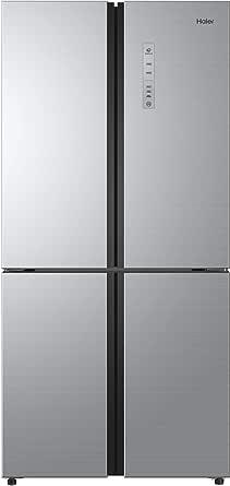 Haier 12.3 Cubic Feet Side by Side Refrigerator, Silver - HRF-550SG