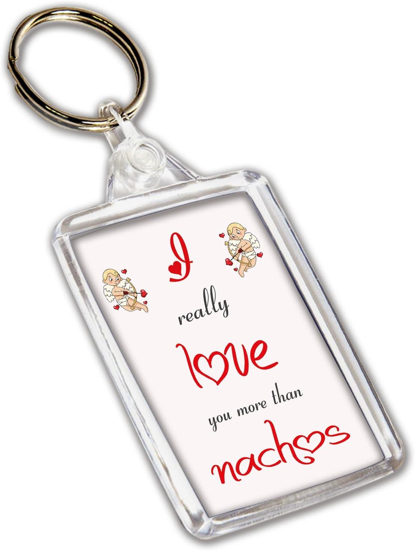 regalo de San Valent/ín Llavero con tem/ática de Nachos I Love Nachos aniversario cumplea/ños para /él o para ella