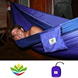 "Hammock Bliss Double - Extra Large Portable Hammock - Ideal For Camping, Backpacking, Kayaking & Travel - Suspension System Included - 100"" Rope Per Side"