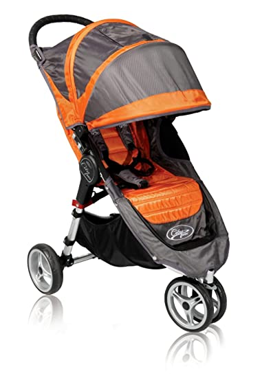 Baby Jogger 2011 City Mini Single Stroller Orange Gray Discontinued By Manufacturer