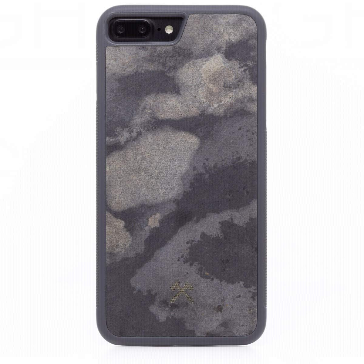 Woodcessories - Real Stone Case Compatible with iPhone 7 Plus / 8 Plus, EcoBump Stone (Camo Grey) by Woodcessories