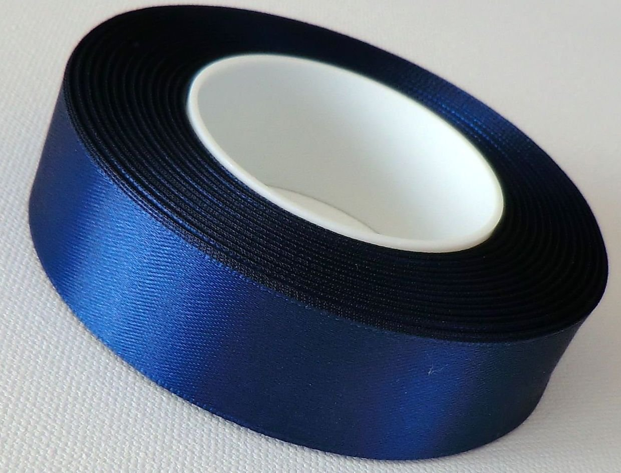 38mm x 3mtrs NAVY BLUE Double Side Satin Ribbon