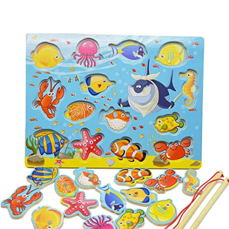 Tabella di Gioco Magnetico di Gioco del Puzzle del Gioco di Pesca