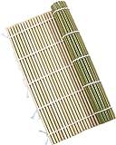 竹製 すし 巻きす 24x24cm 抗菌 寿司巻 太口 竹巻す グリーン 巻きすだれ 巻き寿司作りに グルメ キャンプ 巻き寿 太口