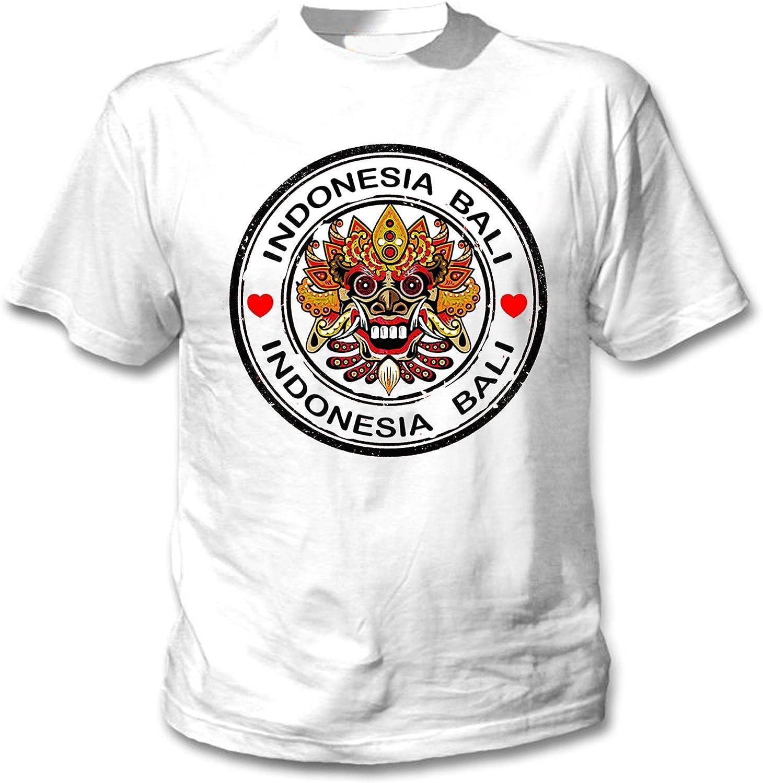 teesquare1st Bali Indonesia Camiseta Blanca para Hombre de Algodon ...