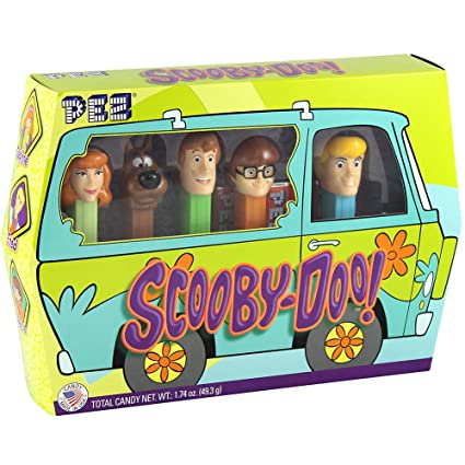 Pez Scooby Doo Gang Set - 5 Dispensers & 6 Rolls Shaggy Fred Velma & Daphne