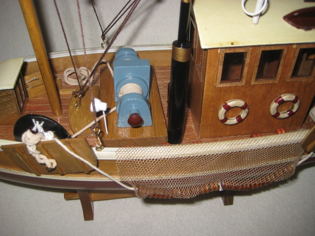 Fischkutter Standmodell aus Holz magicaldeco Gro/ßer Kutter