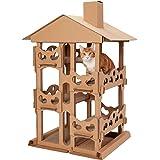 Furhaven Pet - Corrugated Cardboard Cat Scratcher Reversible Panels, Wall-Mounted Vertical Scratcher, Busy Box Toy Scratcher,