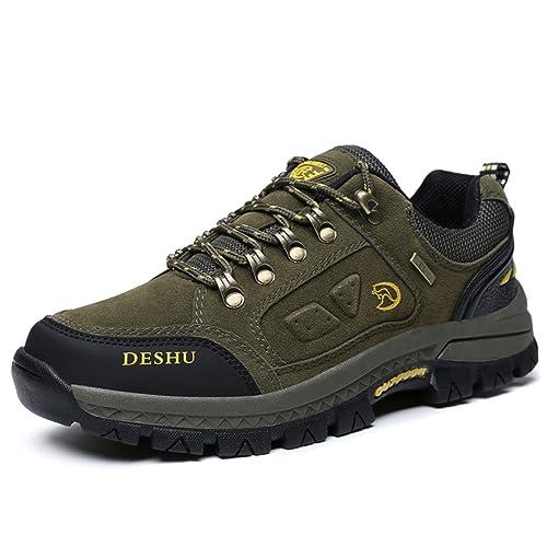 7579e806 Zapatos de senderismo, Gracosy Impermeable Hombres zapatos de montaña para  paseos Viajes Zapatillas de deporte