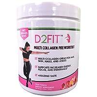 D2Fit (by Jessica Bass) Women's Pre Workout Multi Collagen (2,500mg) + Biotin (150mcg...