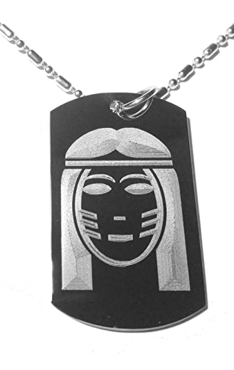 Dog Tags Native American Indian Chief Warrior Symbol Military