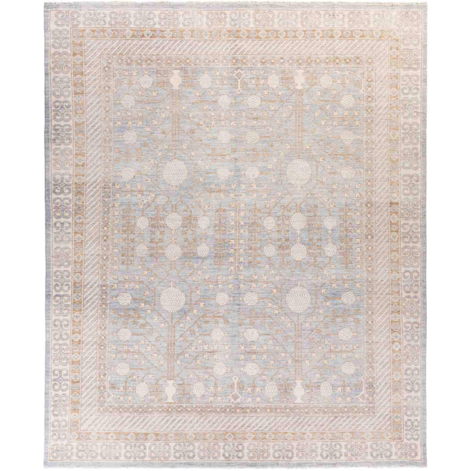 Solo Rugs Khotan Hand Knotted Area Rug 8 5 x 10 2 Denim