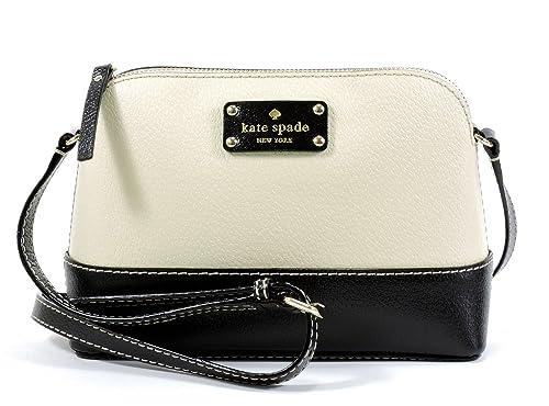 642df4e85d Kate Spade Wellesley Hanna Leather Crossbody Bag WKRU2895 (Berkley Lane  Porcelain Black)