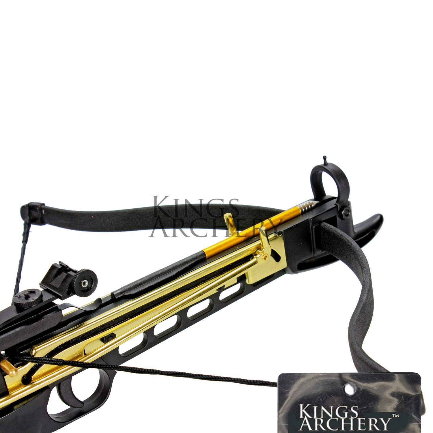 Crossbow Self-Cocking 80 LBS by KingsArchery® with Hunting Scope, 3 Aluminium Arrow Bolts, and Bonus 120-pack of Colored PVC Arrow Bolts + KingsArchery® Warranty by KingsArchery (Image #9)