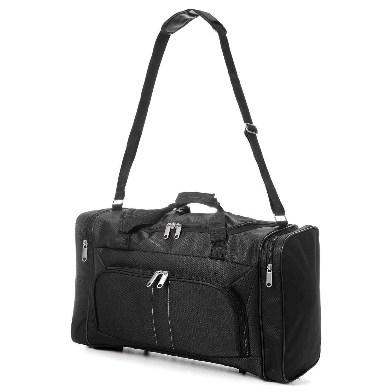 Eono Essentials Bolsa de viaje, apta como equipaje de cabina, 32 litros (54 x 30 x 20 cm, negro): Amazon.es: Equipaje