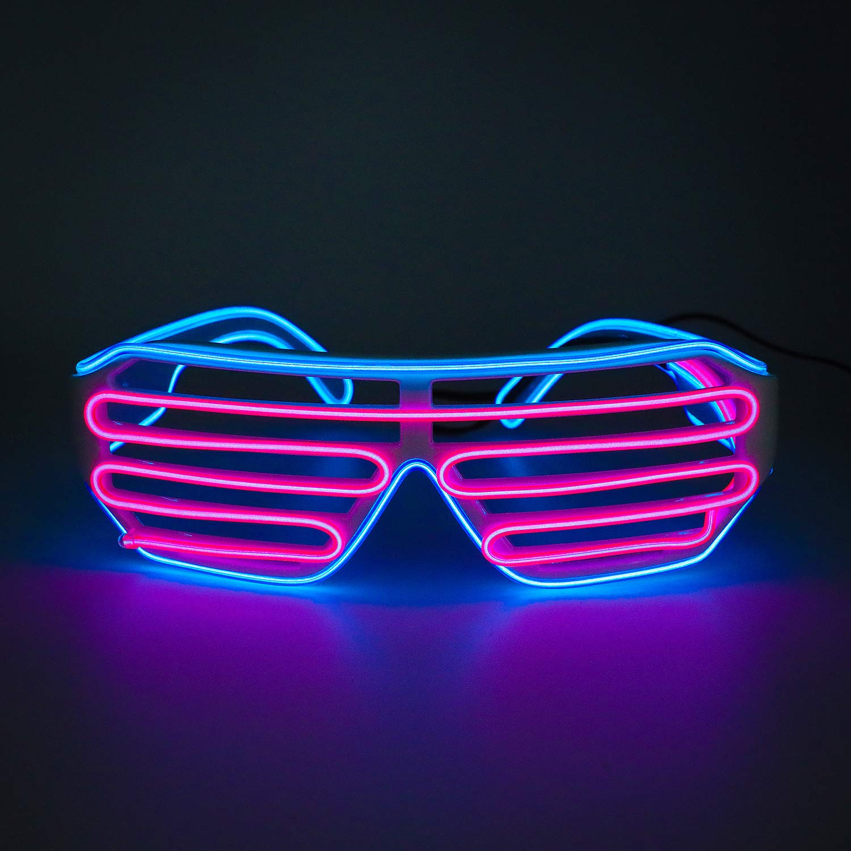 Fashion LED Glow EL Glasses Shades Light Up Flashing Sunglasses Bar Party Rave