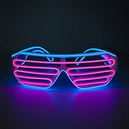 Glow in the Dark Glasses Lot of Bright Colours Green Blue Yellow Orange Pink