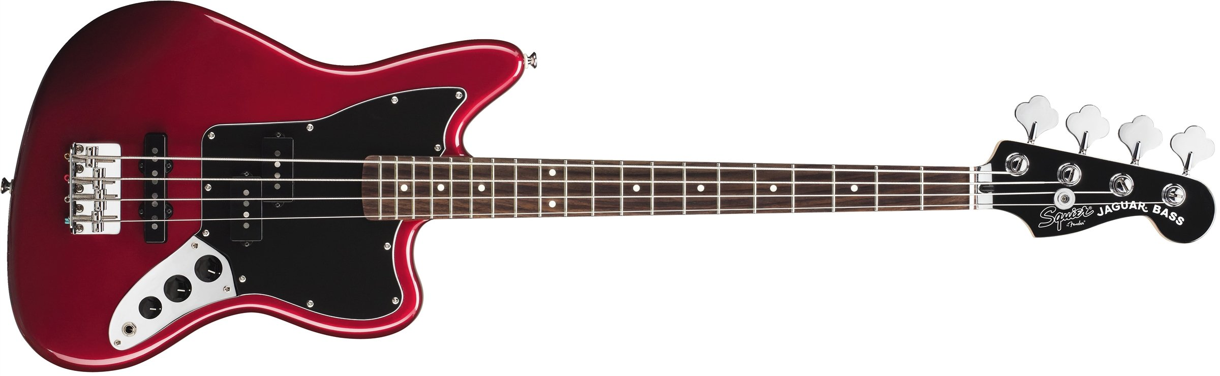 Squier by Fender Vintage SS Modified Special Jaguar Bass - Candy Apple Red by Fender